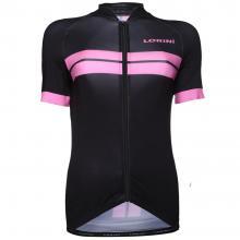 Dames wielershirt black/Pink collection