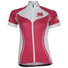 Dames wielershirt roze Collection
